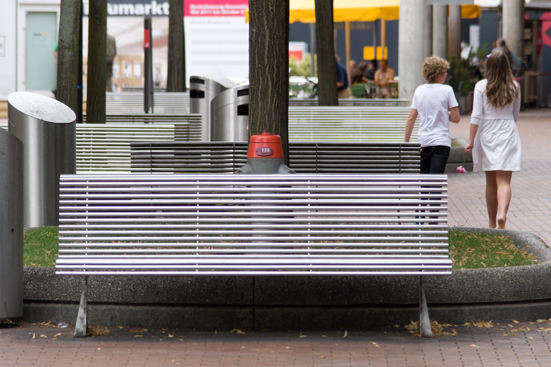 MSE Parkbänke aus Aluminium