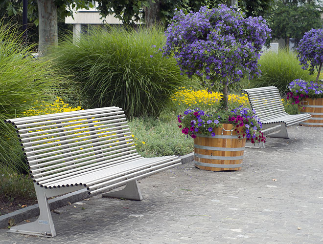 Parkbänke Brugg Stadtzentrum