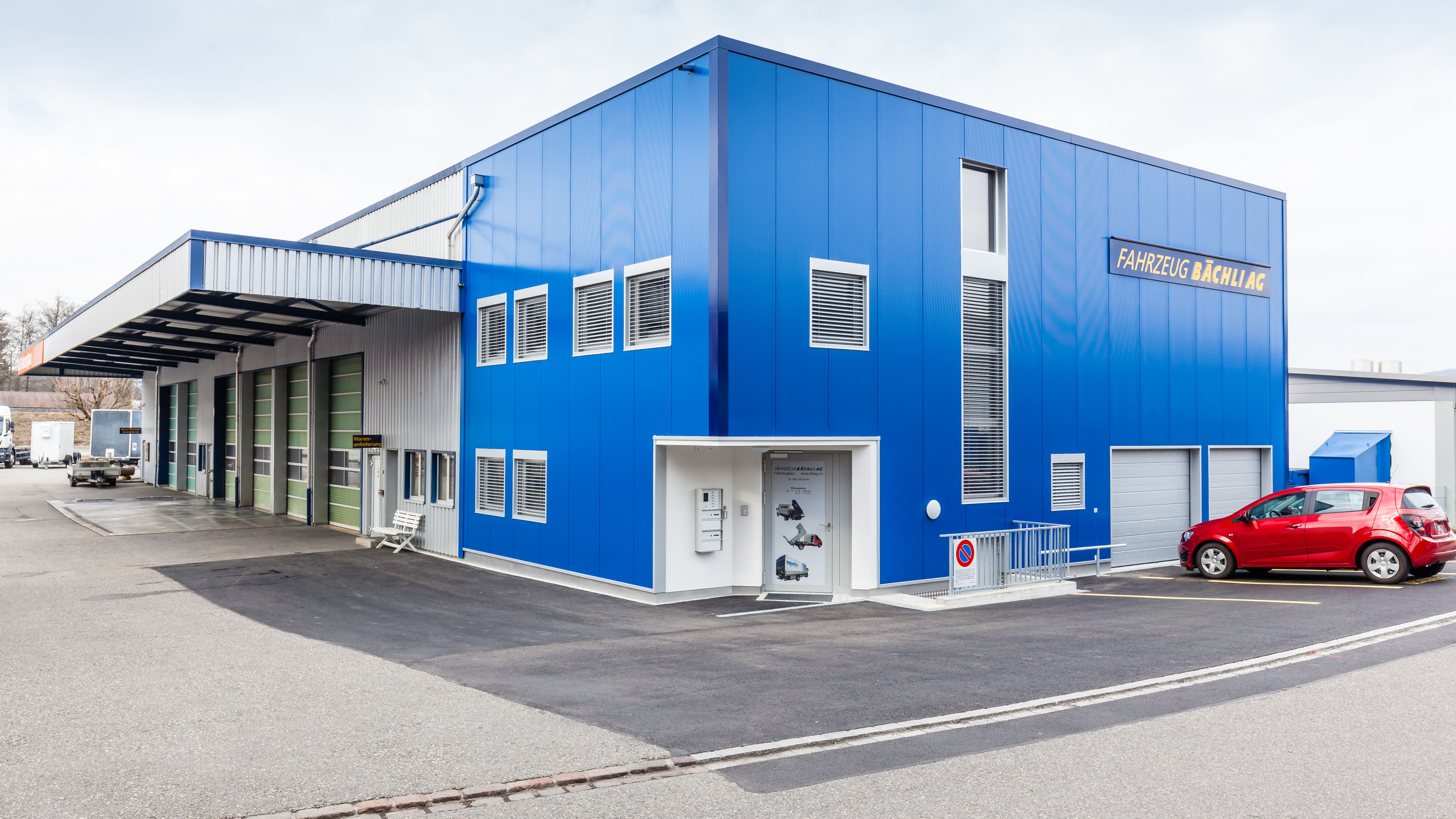 Erweiterungsbau Fahrzeug Bächli, Döttingen