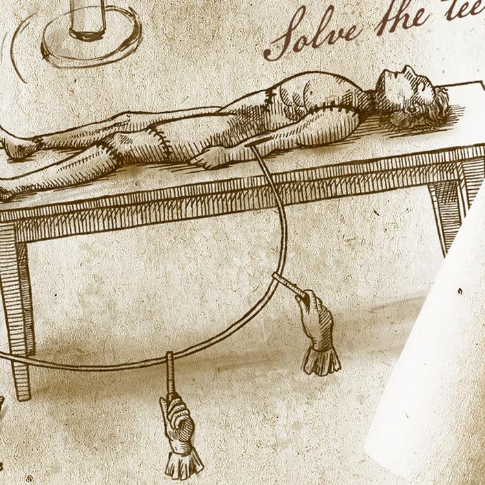 Zoom sur l'illustration de la créature de Frankenstein pour cet indice d'escape game