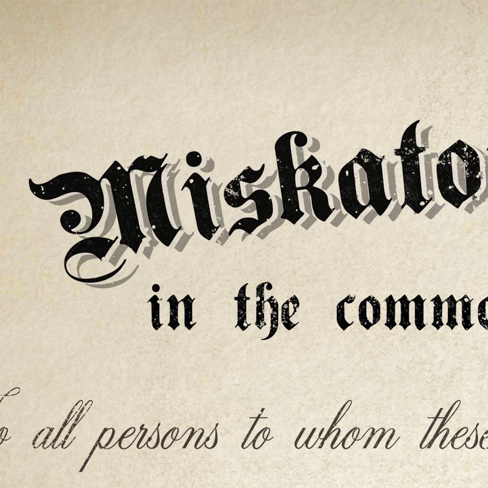 Zoom sur la typographie du titre du diplôme de Miskatonic University