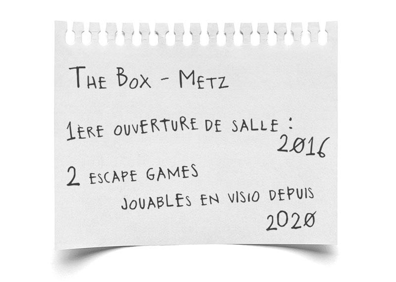 Paroles d'escape - The Box, escape game visio