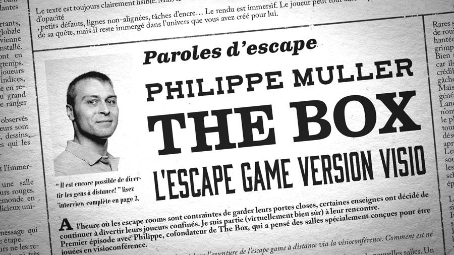 Photo de Philippe Muller et titre de l'interview mis en page comme un journal