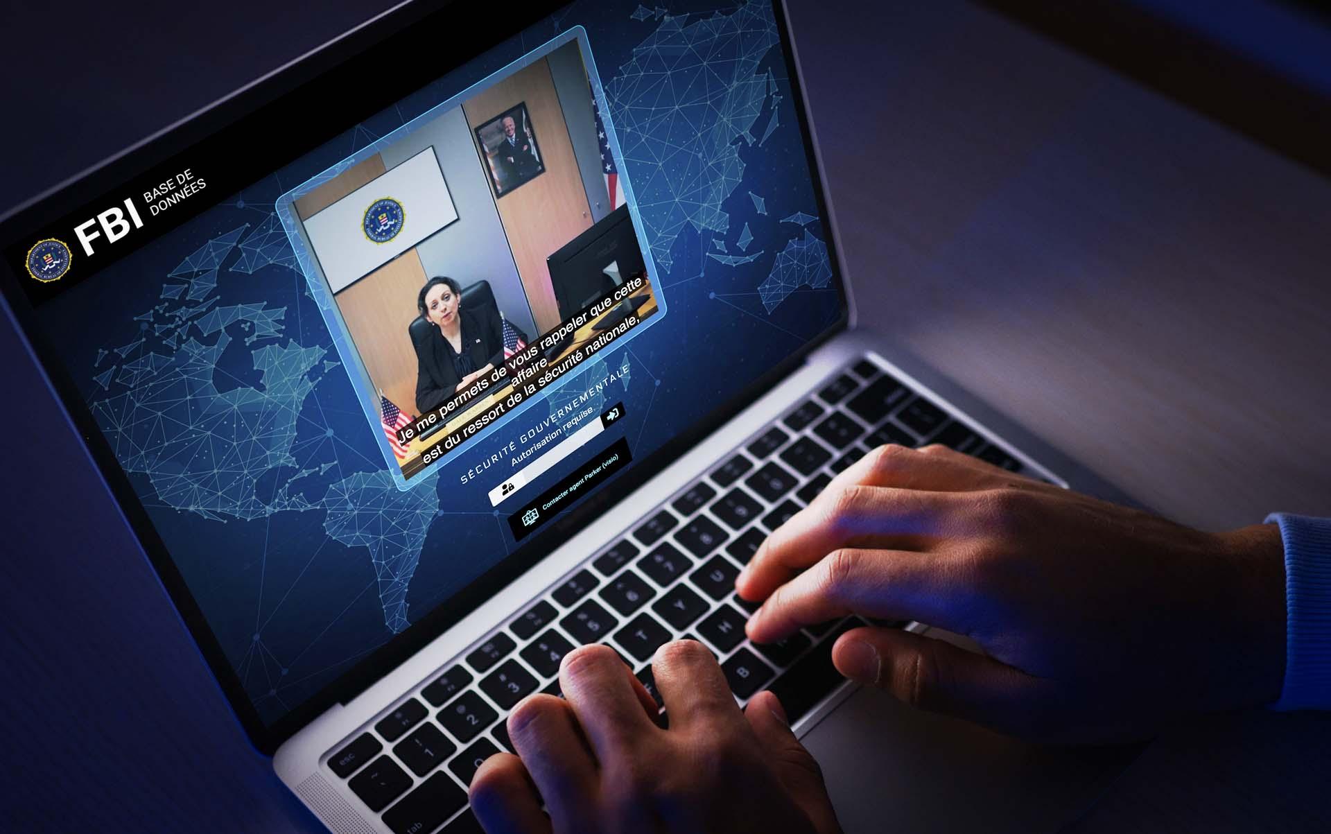 Ux Ui Design, design d'expérience utilisateur pour l'escape game en ligne Cartel de The Box, réalisé par Zompa Design.
