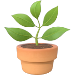 Growing plant emoji