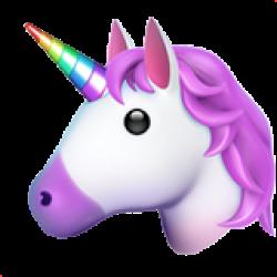 A unicorn emoji