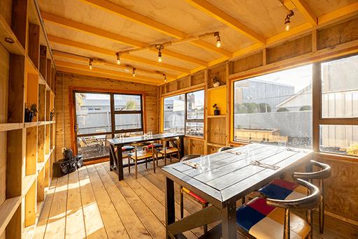 Wide angle shot inside Maikhana private dining room