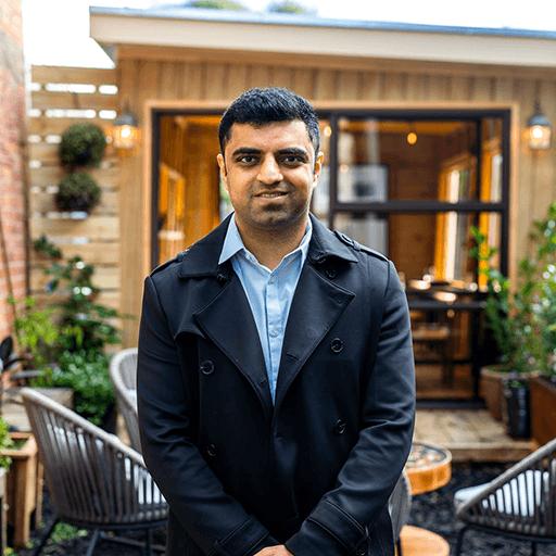 Portrait photo of Vishal the owner