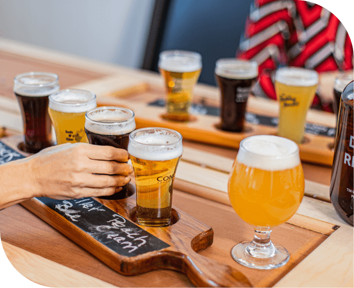 beers on table