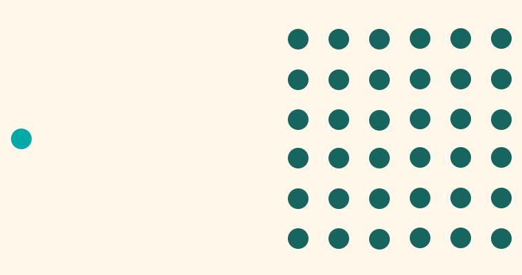 A single circle sits next do a group of circles