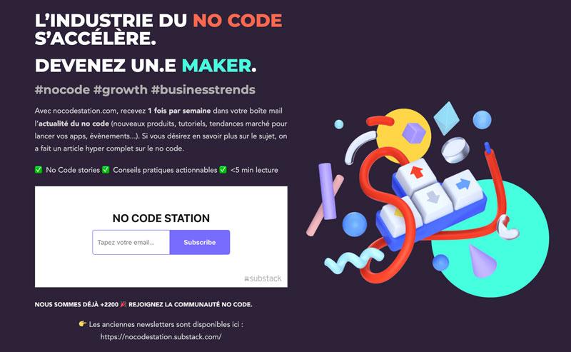 Blog no Code station