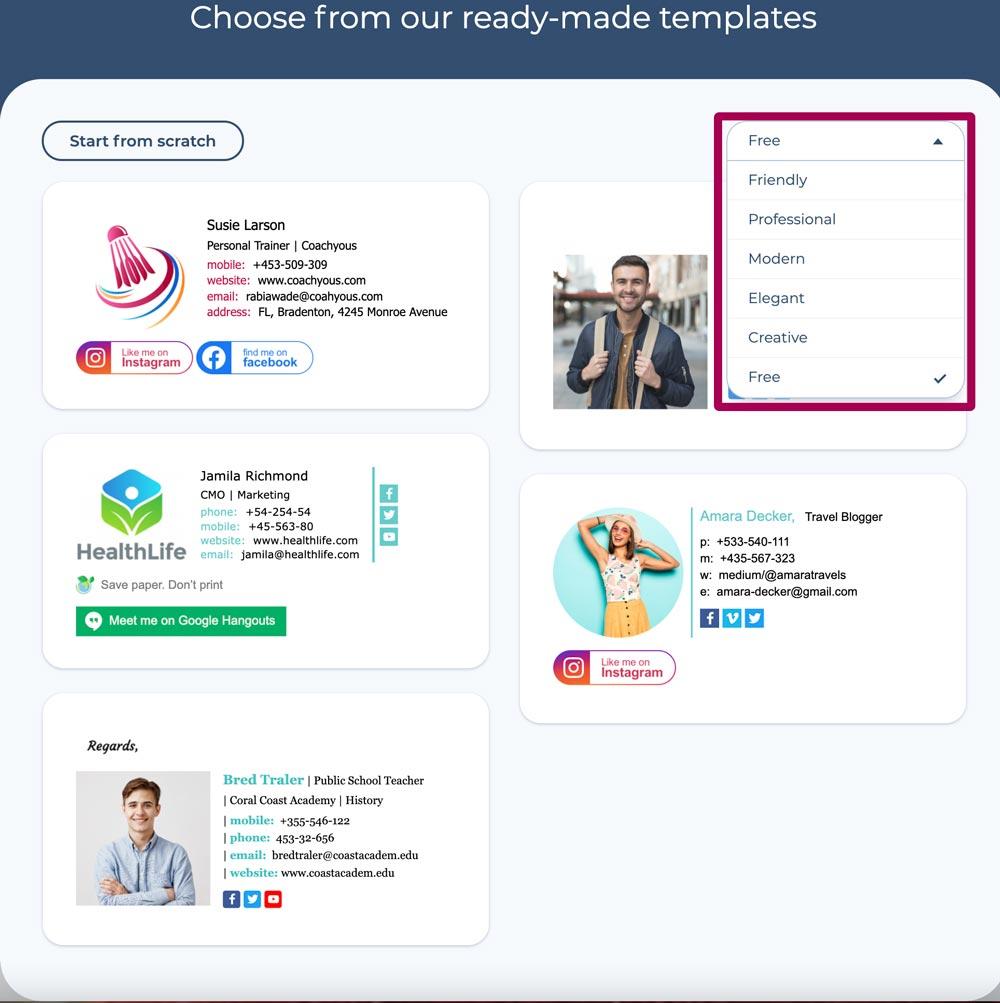 template signature email gratuit