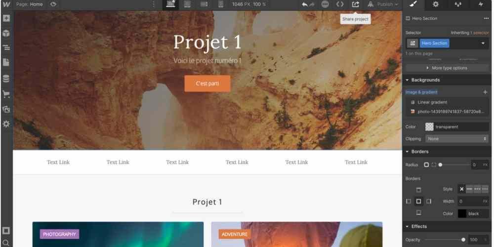 webflow exemple