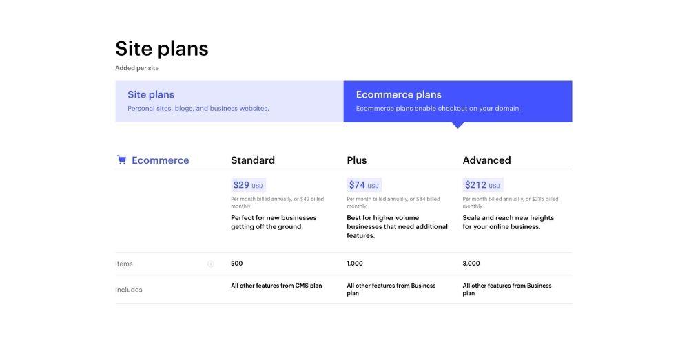 Prix ecommerce webflow