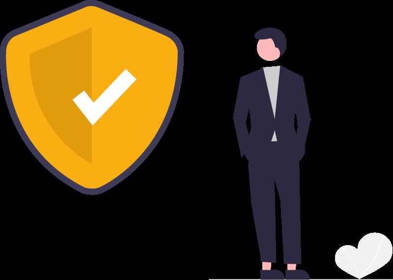 Illustration de contrôle et de la sécurité donc bénéficie les utilisateurs de Ioga