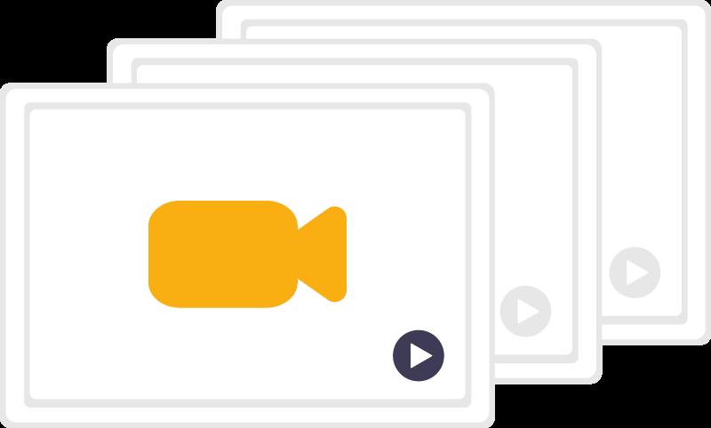 Dessin d'une vidéo illustrant la démultiplication de la connaissance