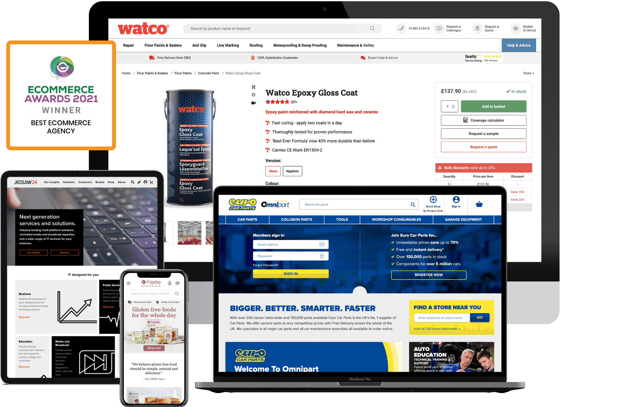 Watco desktop and mobile