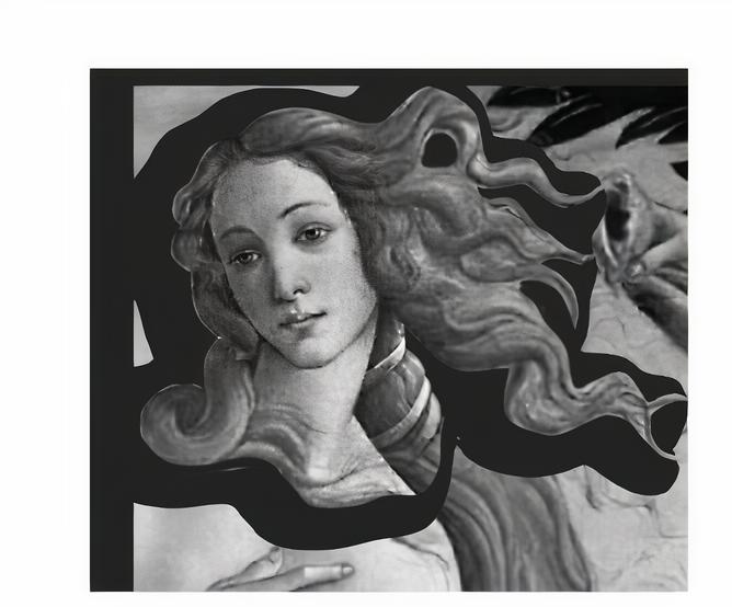 Част от раждането на Венера на Ботичели.