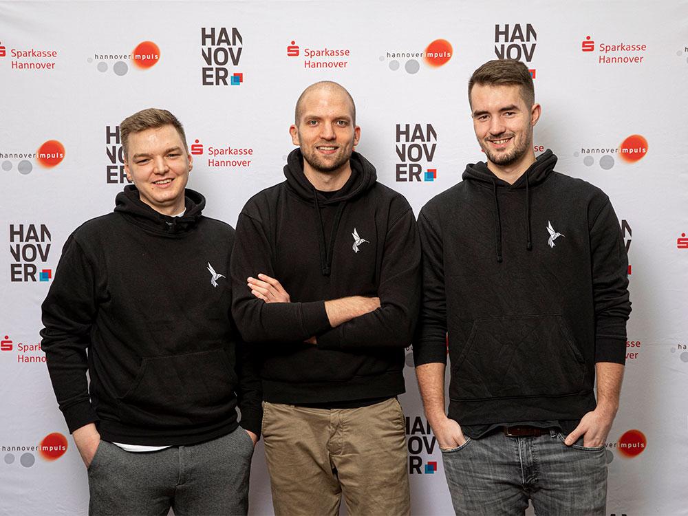 Teamfoto von Papair v. l. Fabian Solf, Christopher Feist, Steven Widdel