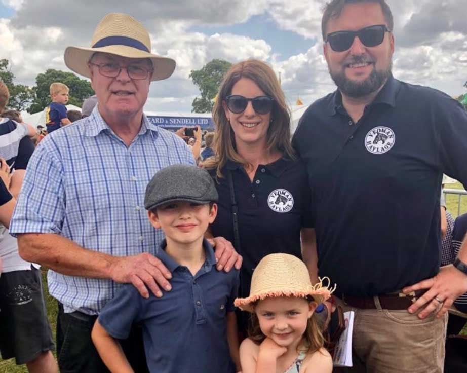 John, Liz and Nick of the Yeoman partnership with two children.