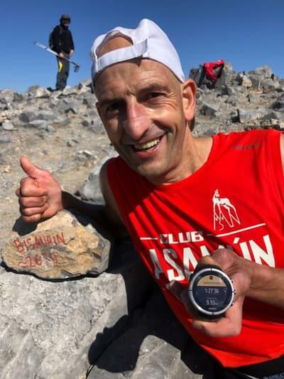 Toño Algueta. Campeón de Aragón de Trail