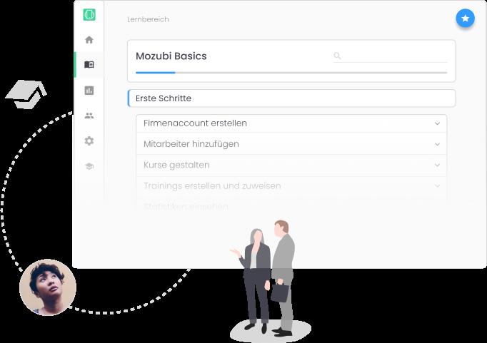Learning Management System - Erst Schritte auf Mozubi