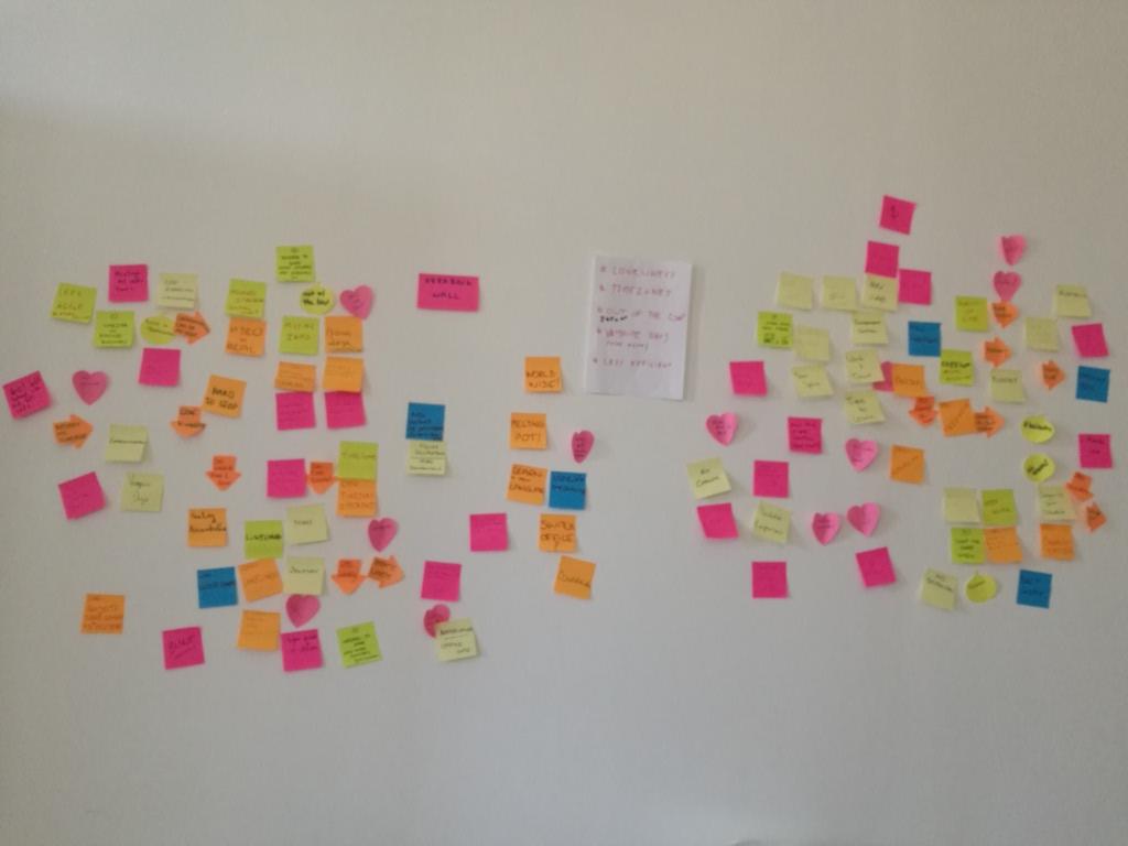 Un atelier ayant eu lieu lors d'une journée de forum ouvert pendant un séminaire d'entreprise.