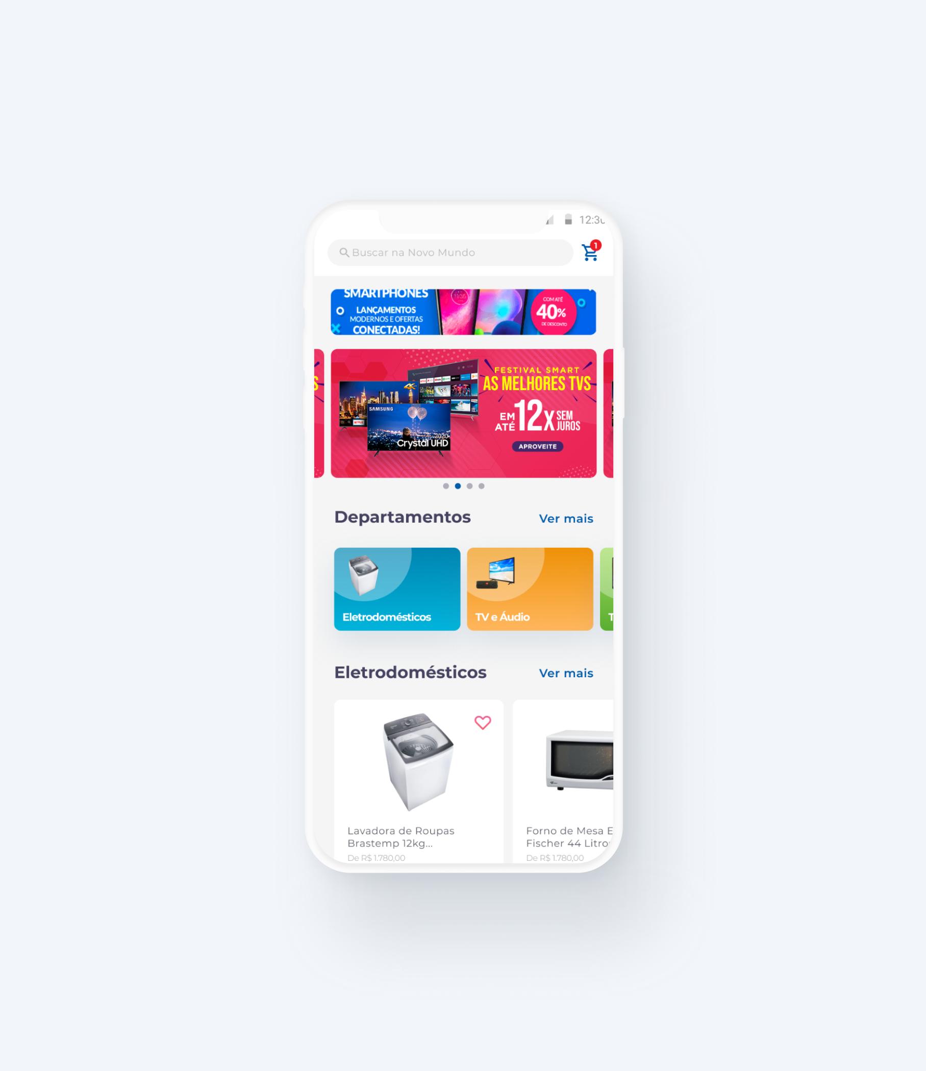 Com um design inovador e descontraído, desenvolvemos uma nova experiência de compra, simples e intuitiva. O aplicativo conta com tecnologia de ponta para gestão de conteúdos e publicação de novas ofertas, trazendo muito mais agilidade para o negócio e aumentando as vendas.