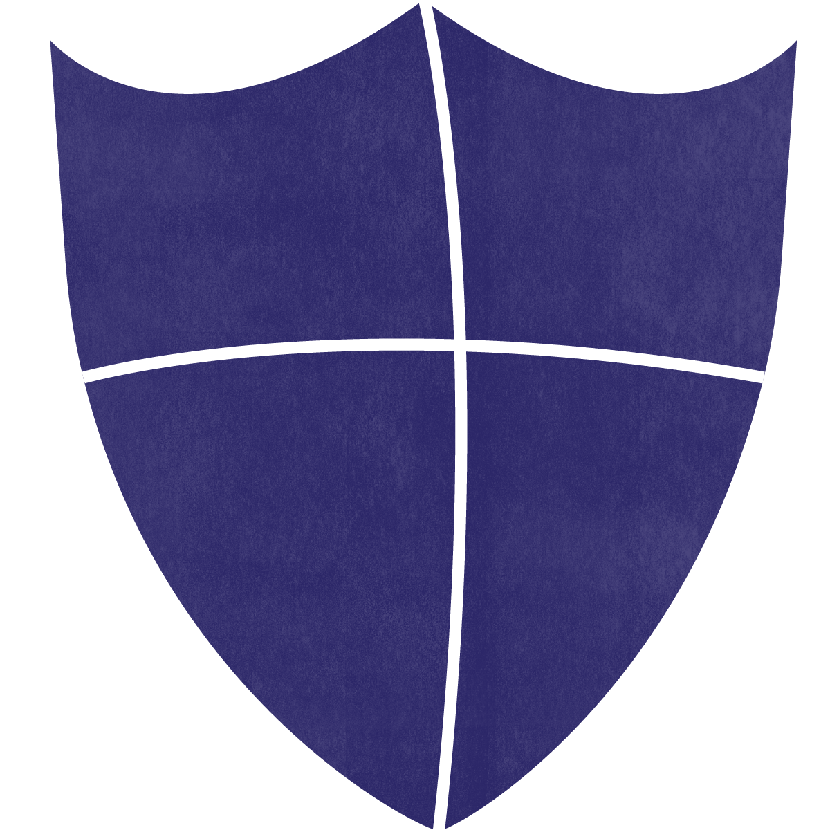 A purple shield showing integrity as a core value.