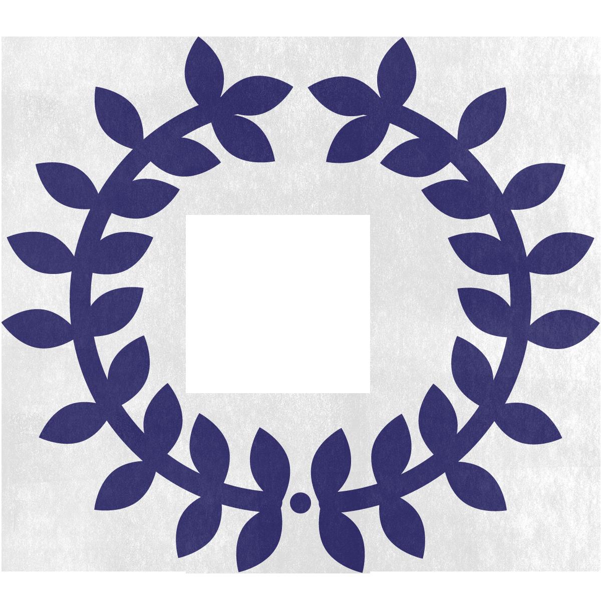 A purple laurel circle showing trust as a core value.