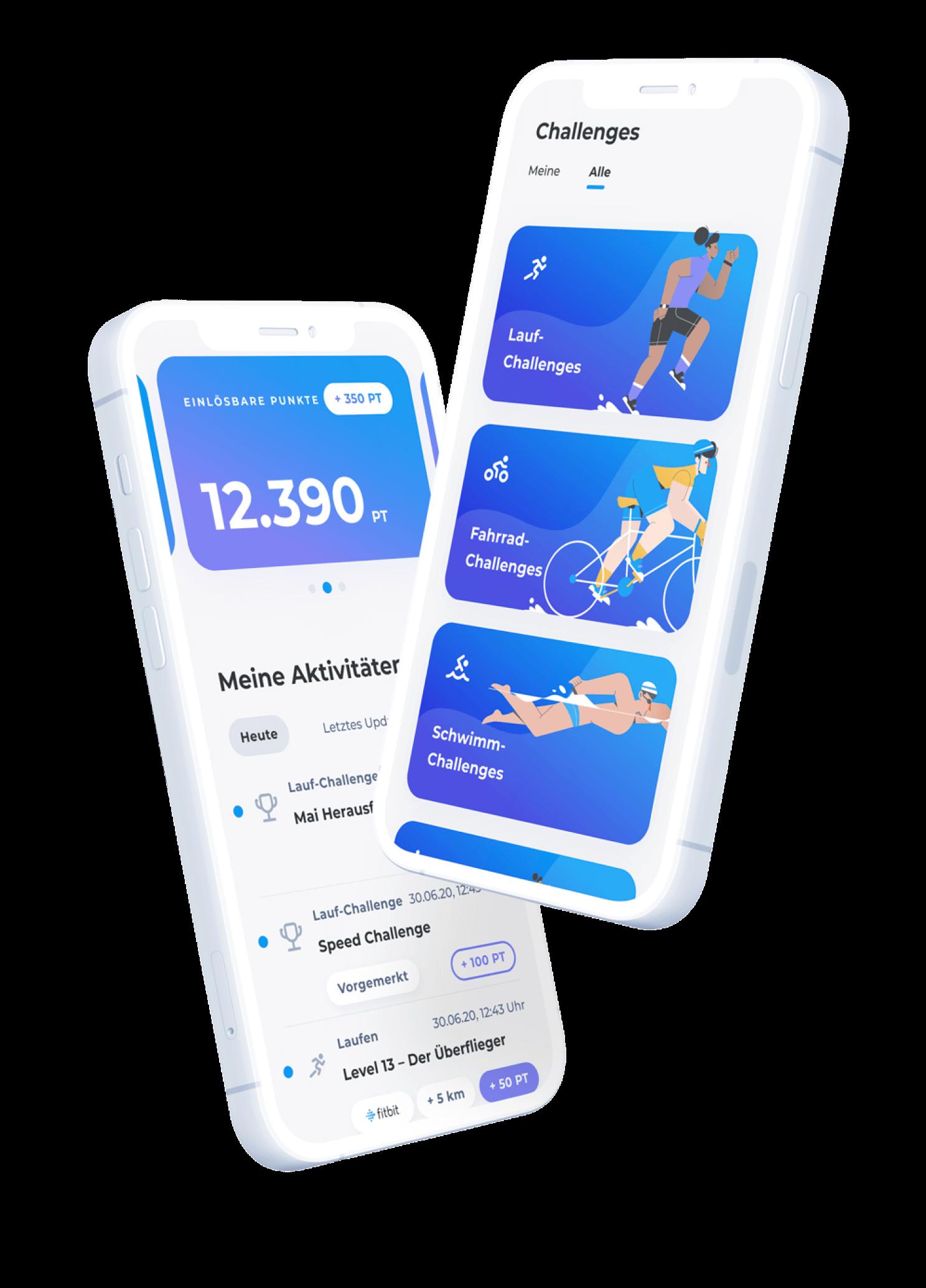 Hello Sports App - Meine Aktivitäten und Challenges