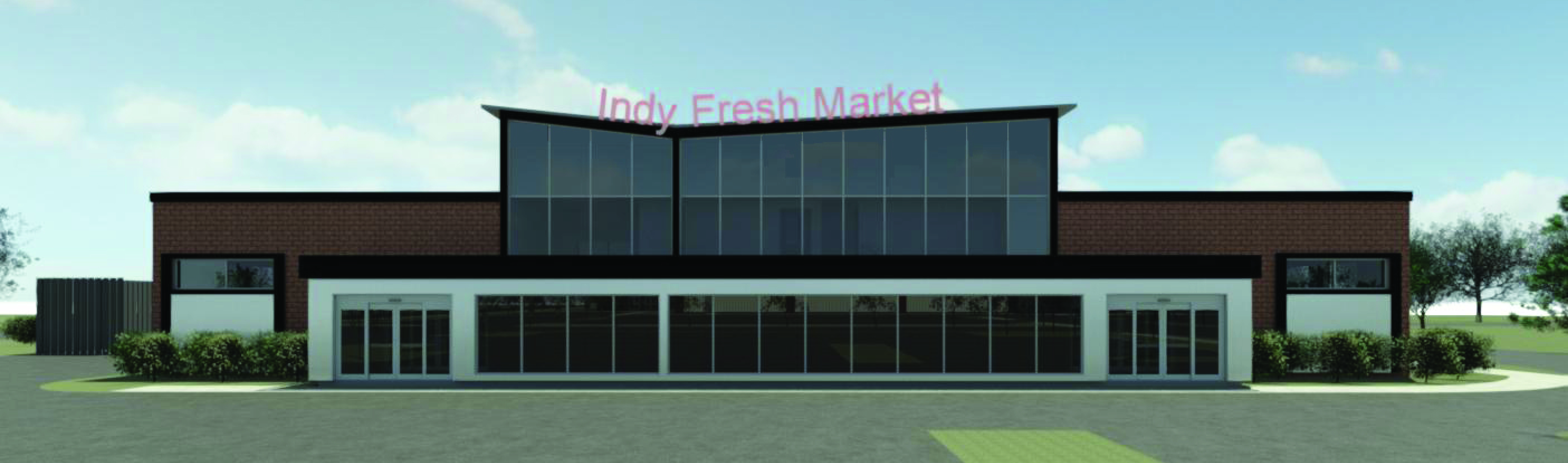 Rendering of future grocery store at 38th and Sheridan