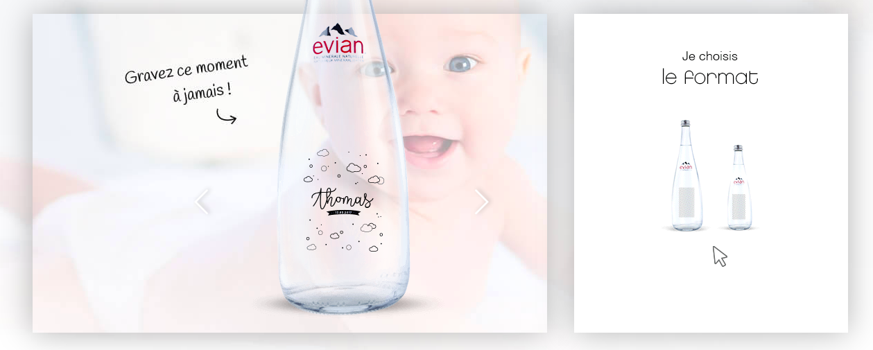 Evian bouteille personnalisée