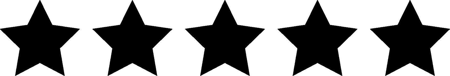 Five black stars