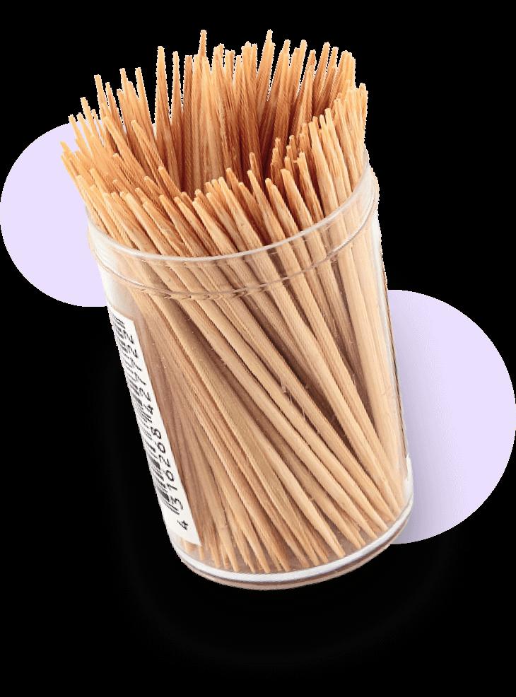 A jar of toothpicks