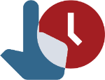Manupatra Document sharing_hand and clock