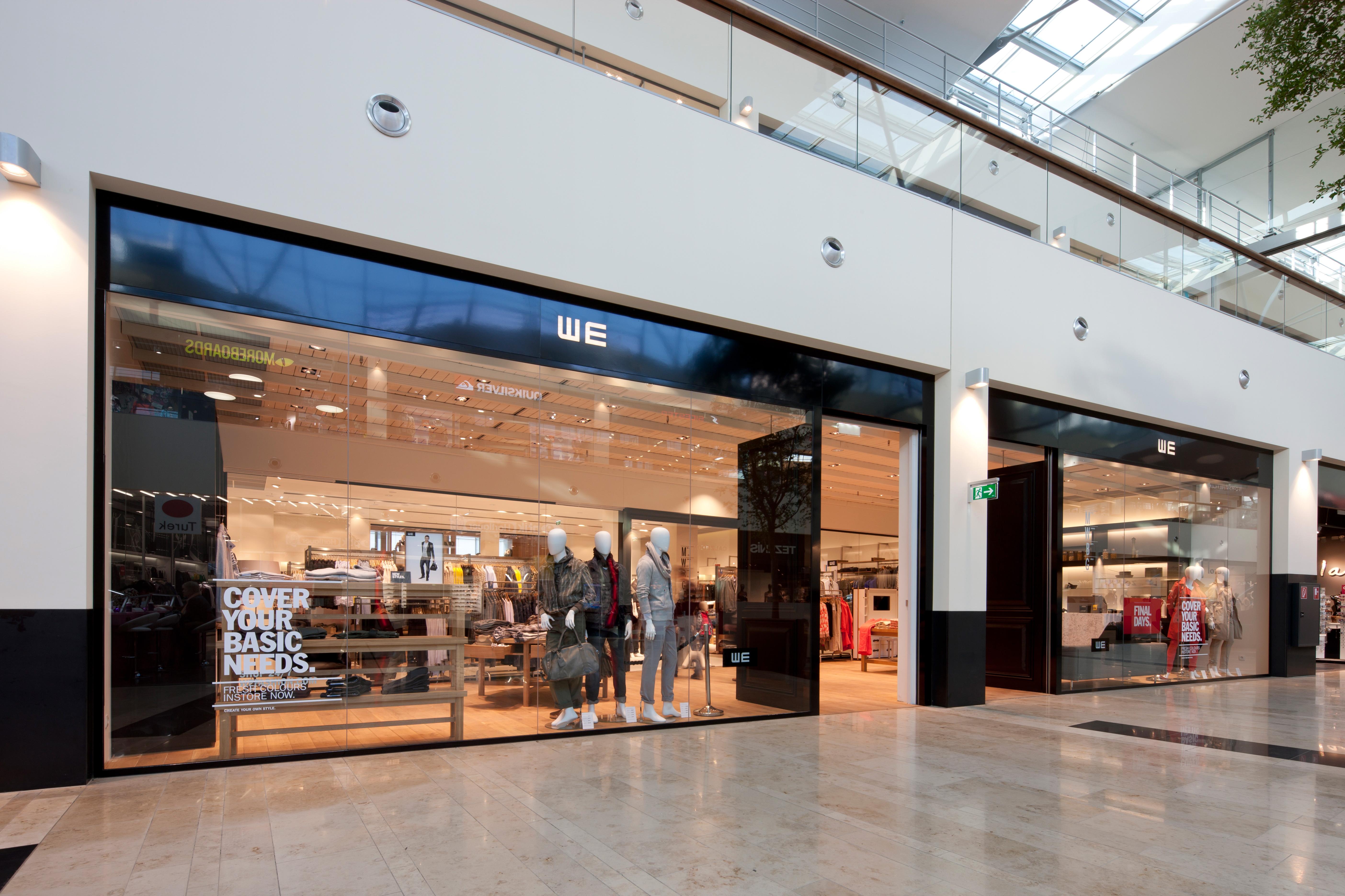 Eingangsbereich des Shopdesigns für We Fashion von Studio Thörnblom