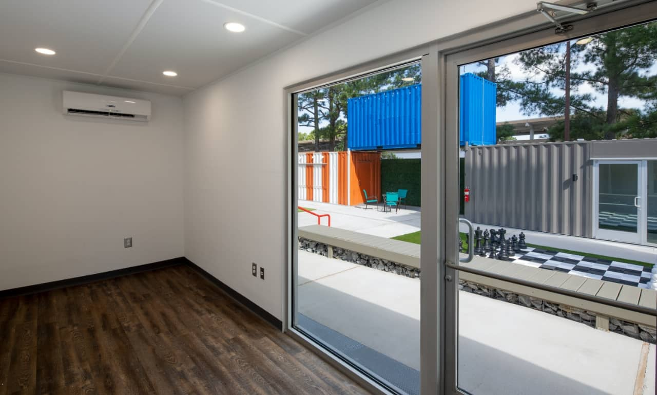 Shipping container park