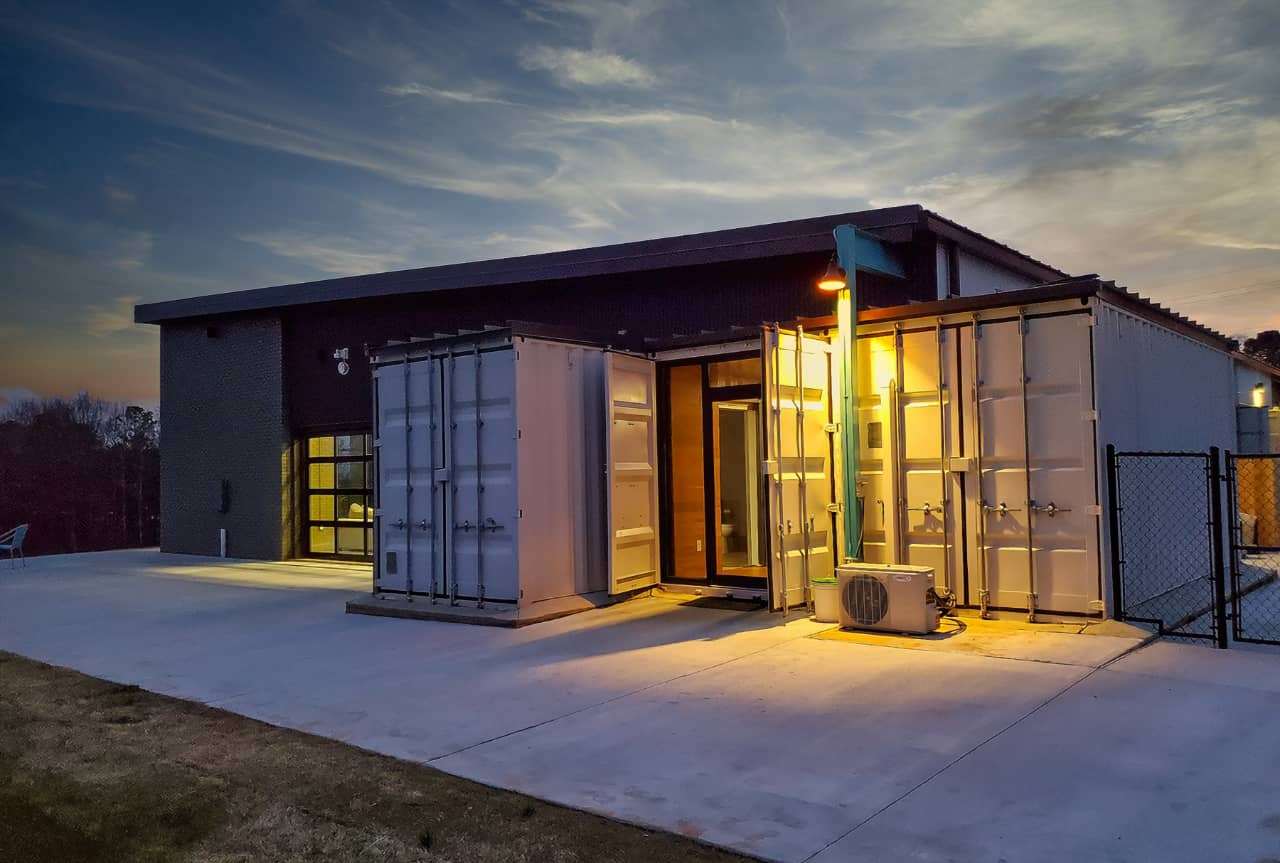 Hybrid Farmhouse Built From Shipping Containers