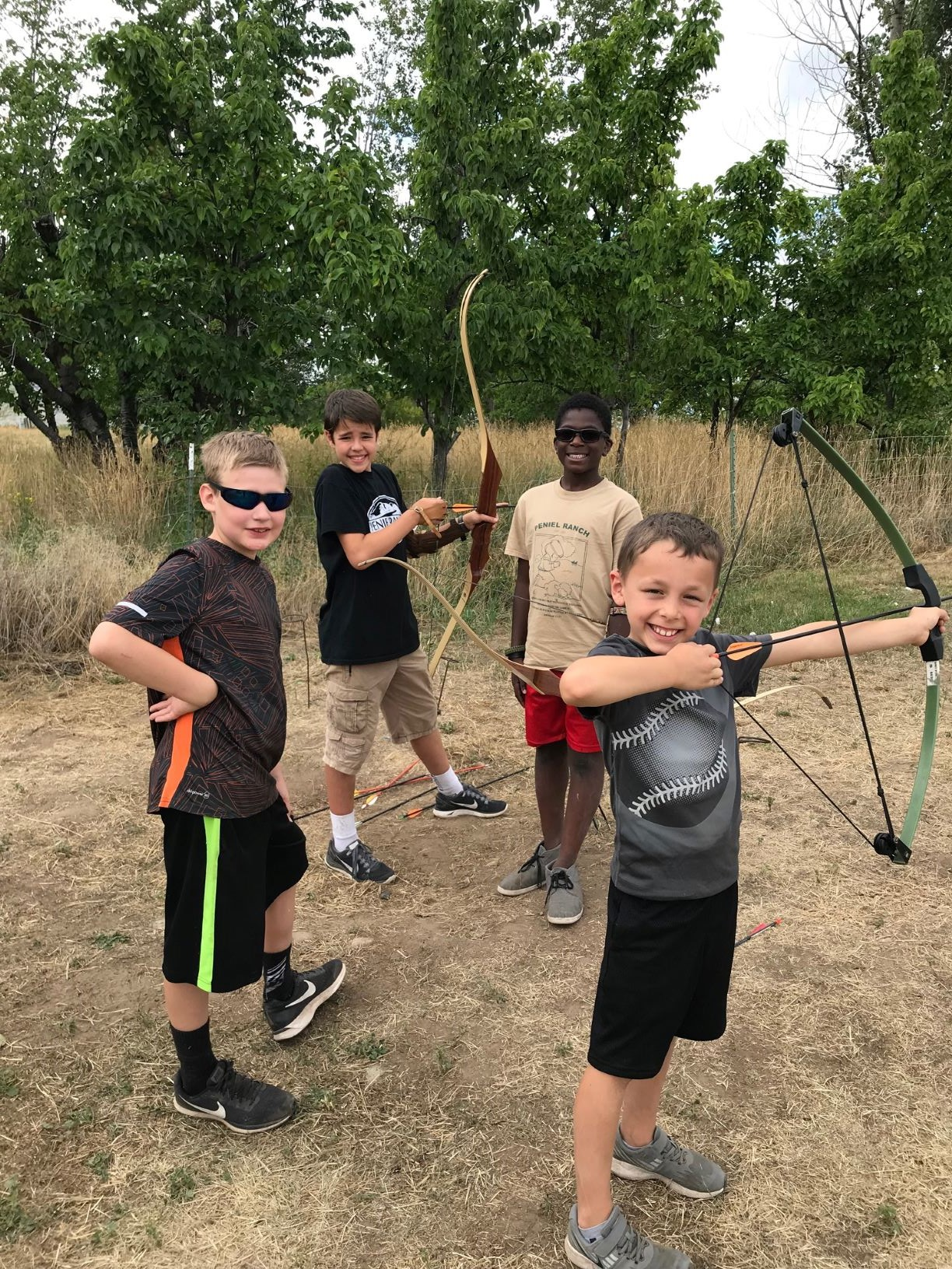 Boys at archery