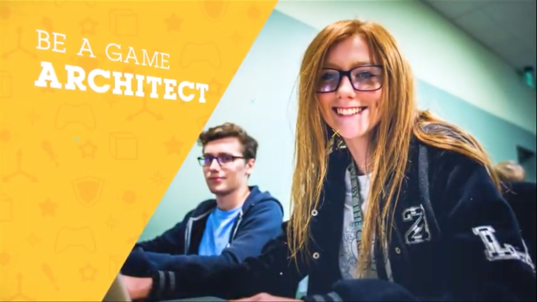 Teenagers learning game design in a summer camp