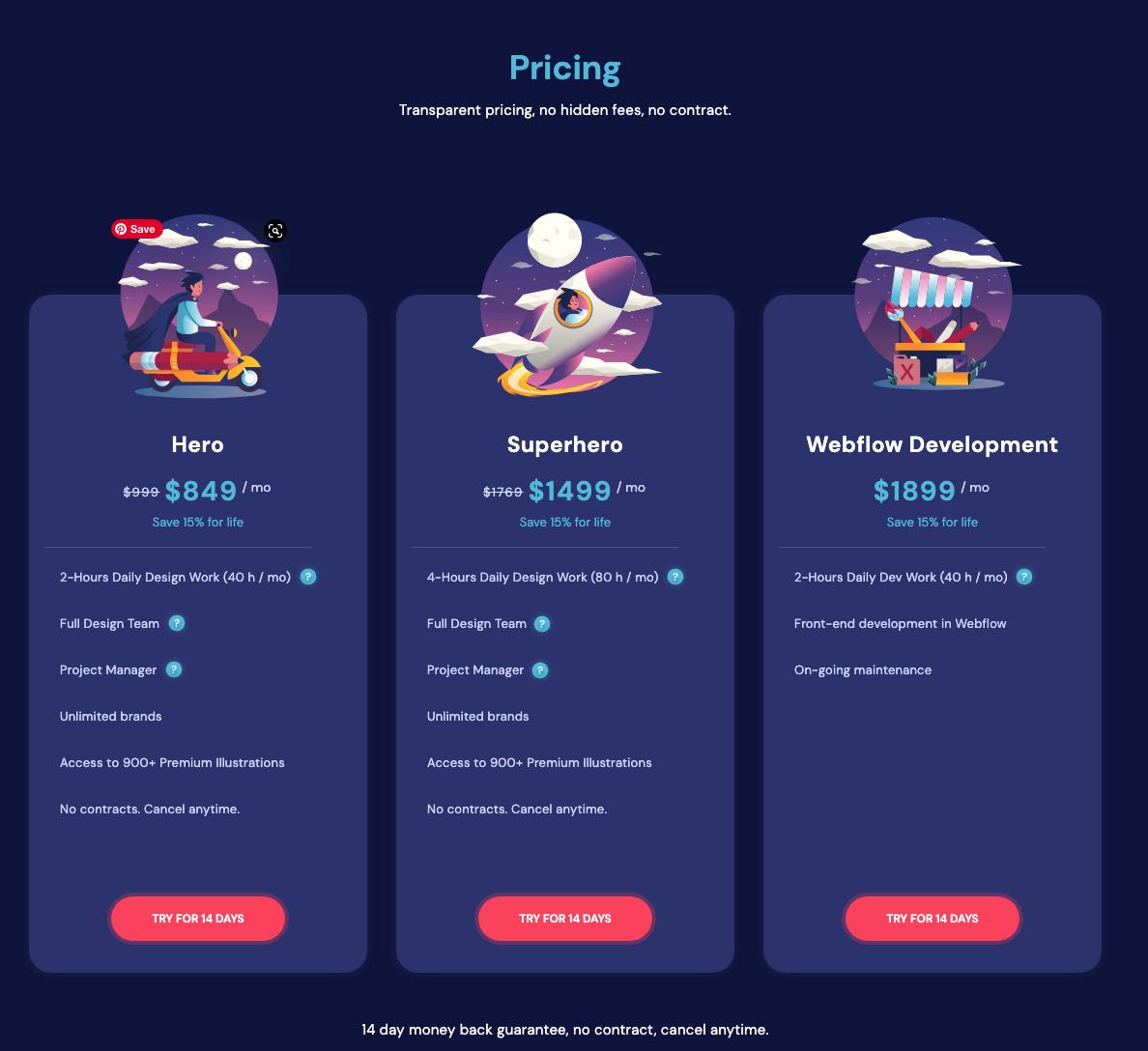 Pixeltrue pricing