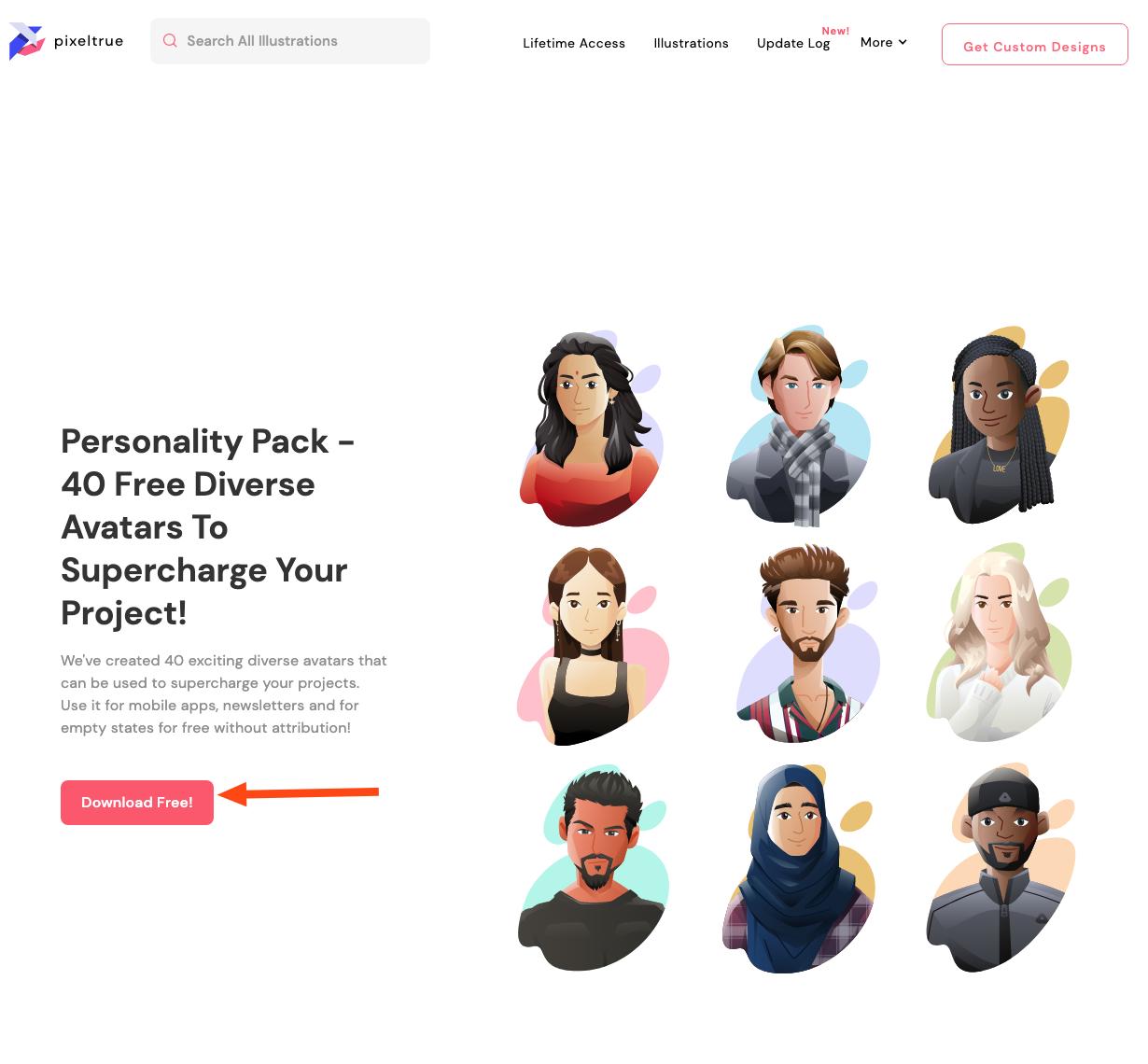 Pixeltrue free giveaway templates