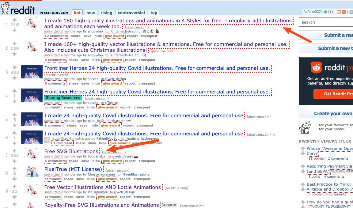 Pixeltrue Reddit sources