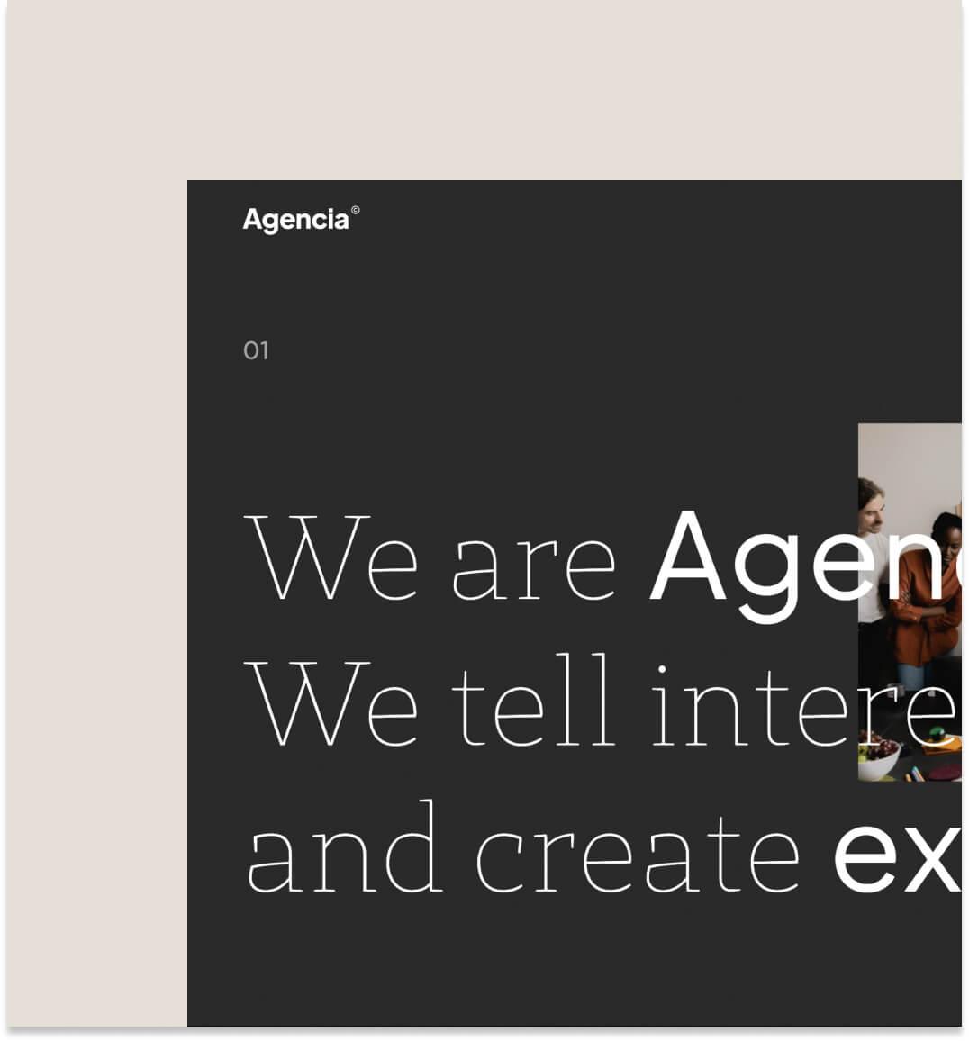 Agencia template thumbnail