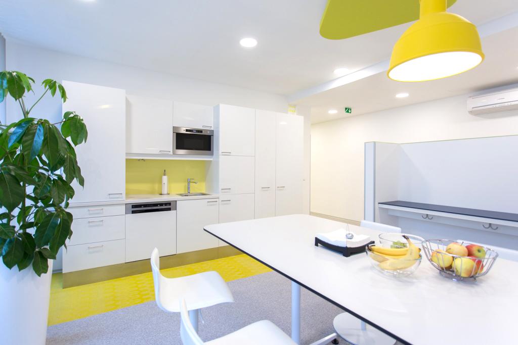 KFV Sozialraum mit Blick auf die Küche