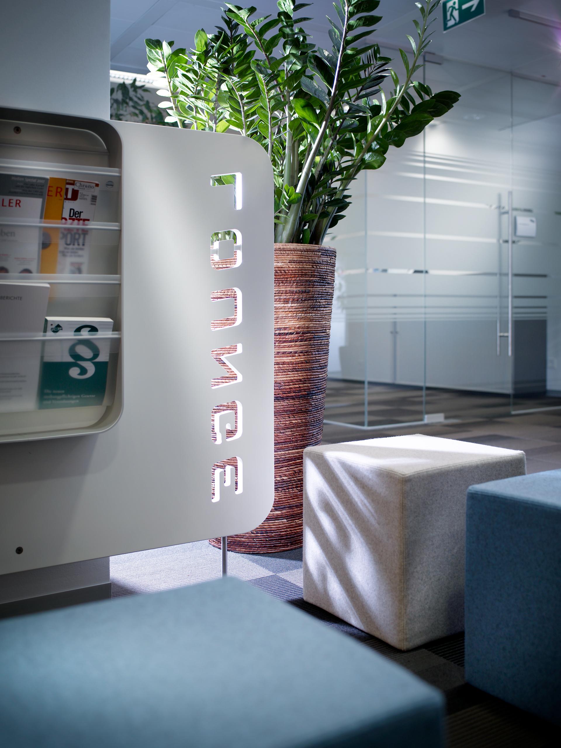Detailansicht im Büro Nycomed Pharma, designed von Studio Thörnblom
