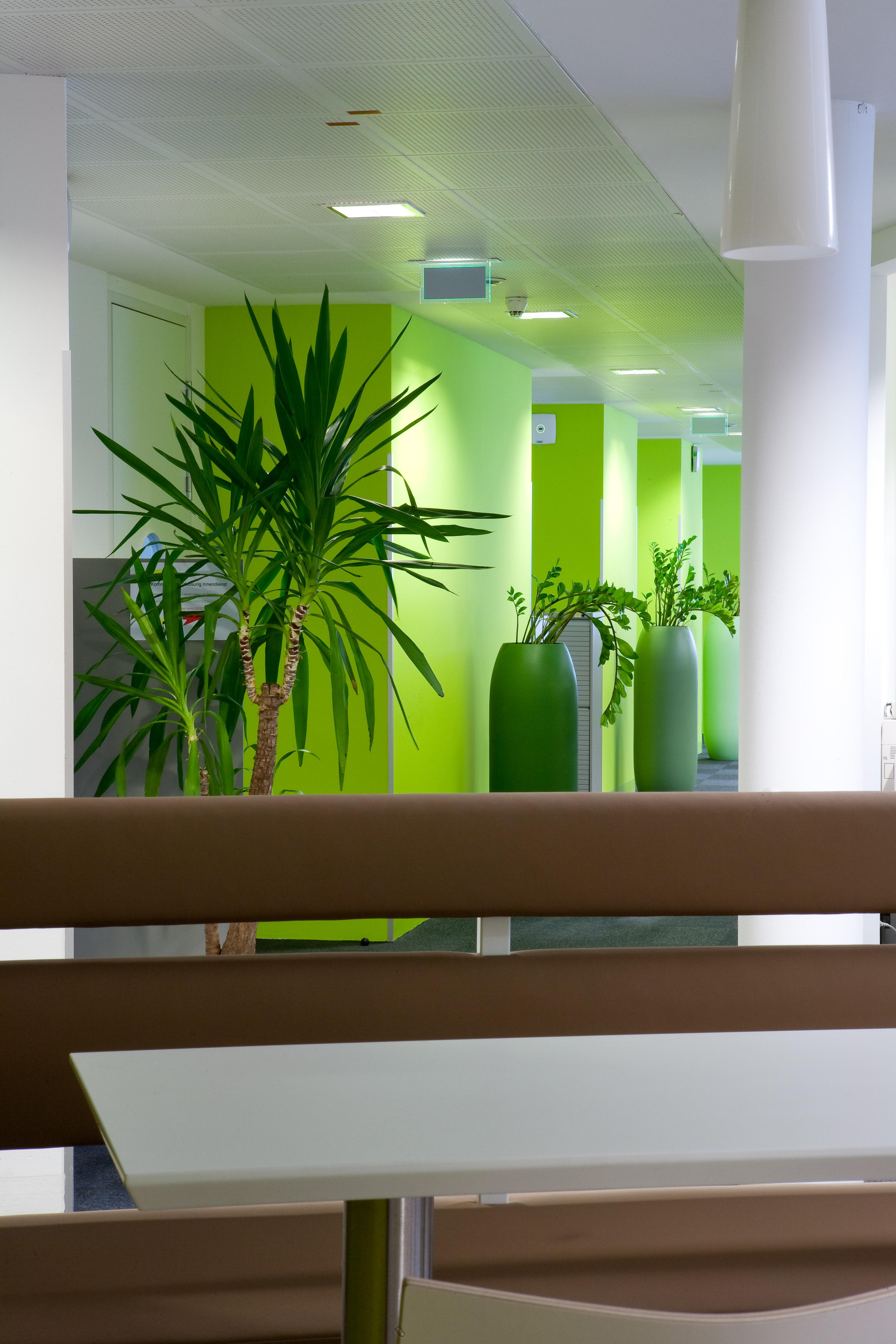 Aufenthaltsbereich bei Procter & Gamble Austria GmbH, designed von Studio Thörnblom