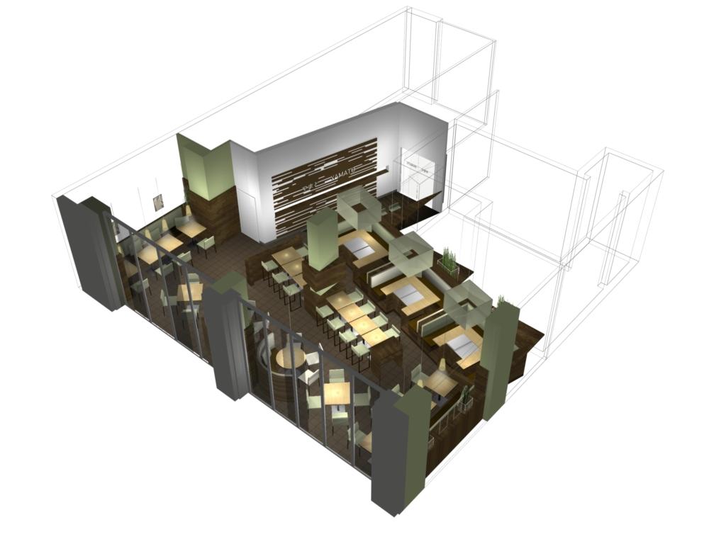 Plan Rendering für Yamato, designed von Studio Thörnblom