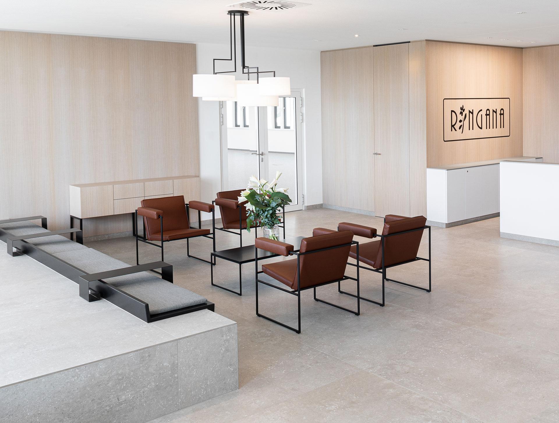 Ringana, interior design, design, innenarchitektur, office design, lounge, büro, möbel, designed von studio thörnblom